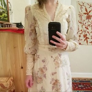 Vintage 70s Young Innocent Arpeja Prairie Dress 9